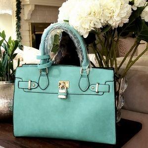 My Bag Lady Online Bags - Padlock Togo Vegan Leather Satchel Set
